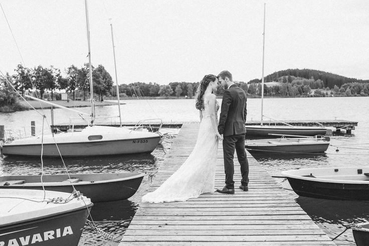 Ewigkeit - Fotostudio R. Schwarzenbach/Atelier Christine  Liebe Hafen wedding marriage bride groom boot sea water boots dress love forever touch