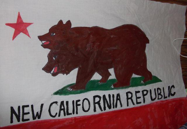 NCR New California Republic Handpainted California Bear Flag | Bear Flag Museum  http://bearflagmuseum.blogspot.com/2013/07/ncr-new-california-republic-handpainted.html
