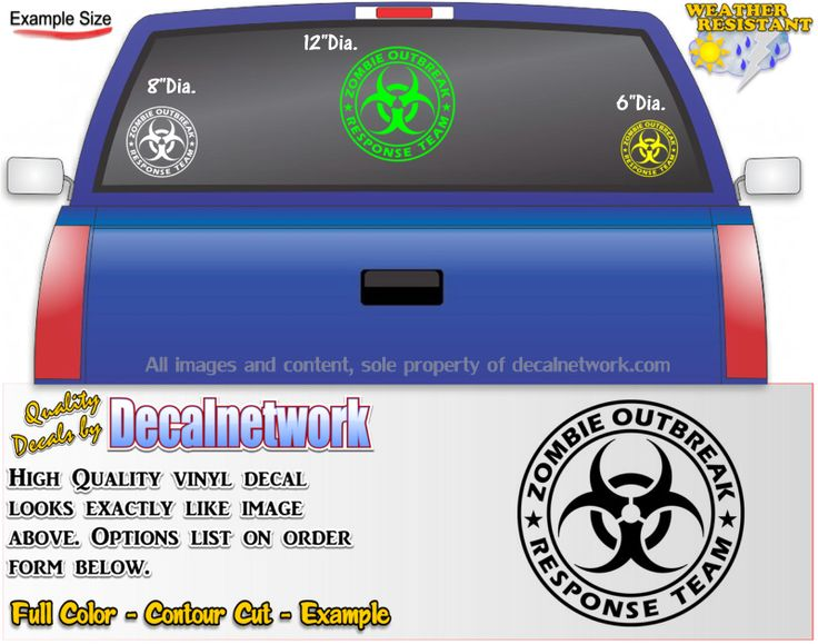 Zombie Outbreak Response Team Vinyl Decal Custom Vinyl Decals - Camo custom vinyl decals for trucks