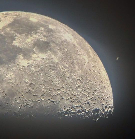 Saturn Appearing From Behind The Moon
