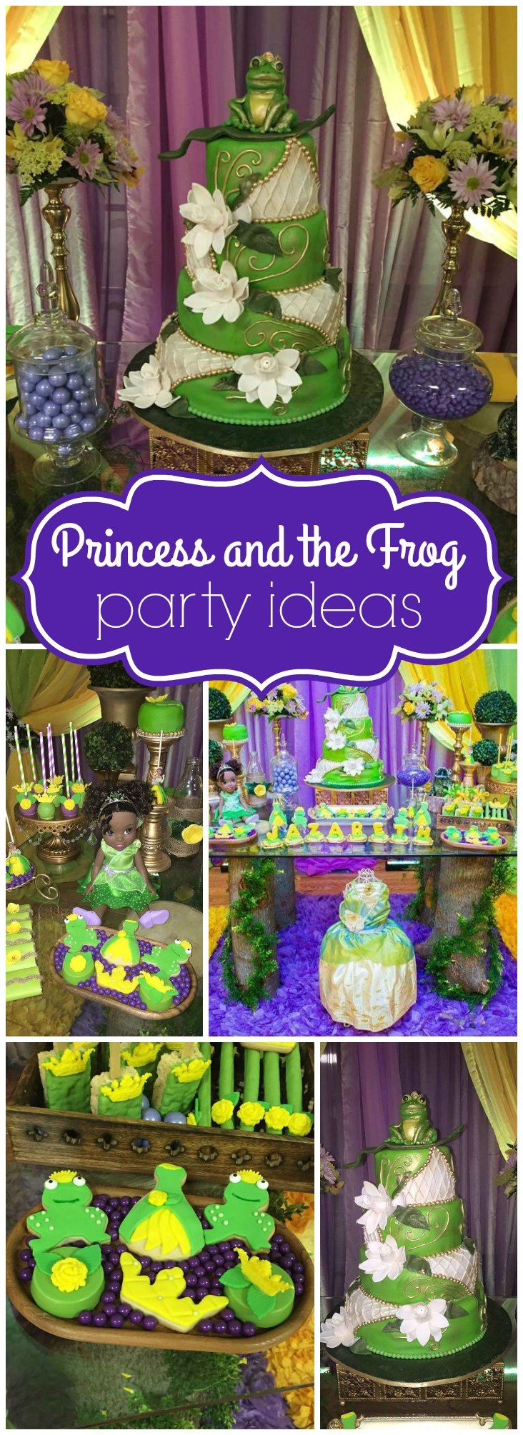 So many stunning details at this Princess and the Frog party! See more party ideas at CatchMyParty.com!