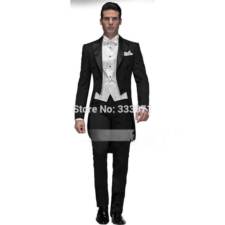 >> Click to Buy << Custom Made High Quality Men Suits Formal Groom Tuxedo 4 pieces Black with white Coat+Pants+Vest+Tie Groomsman Wedding Party #Affiliate