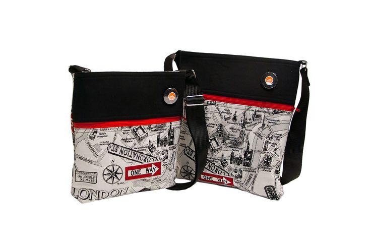 Tašky, taštičky, bokovky s mapou Londýna se fajn nosí a jsou praktické pro holky i kluky.