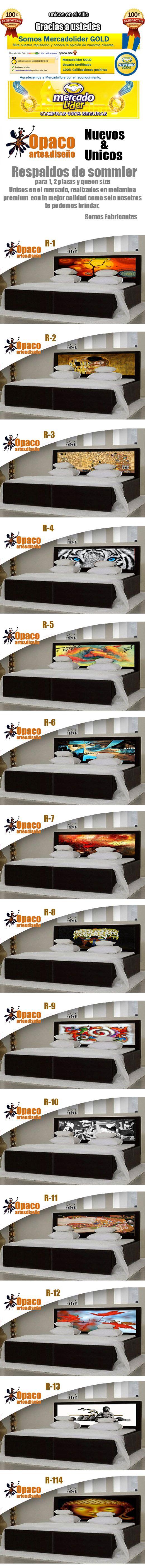 Respaldos De Sommier Unicos 1 Plaza 2 Plazas Queen Size - $ 1.499,99 en MercadoLibre