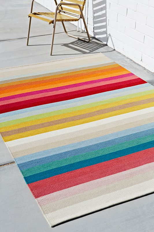 Armadillo Co Ribbon Multistripe Rug