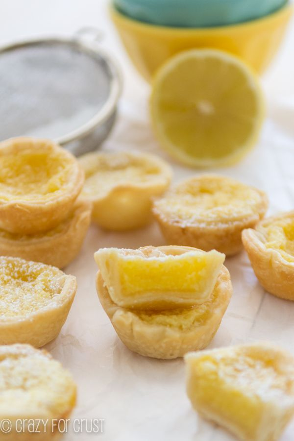Mini Lemon Chess Pies by crazyforcrust.com. Lemon - my favorite summer recipe ingredient