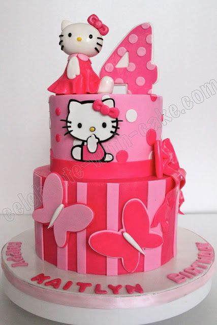 23 Best Images About Hello Kitty Cakes On Pinterest