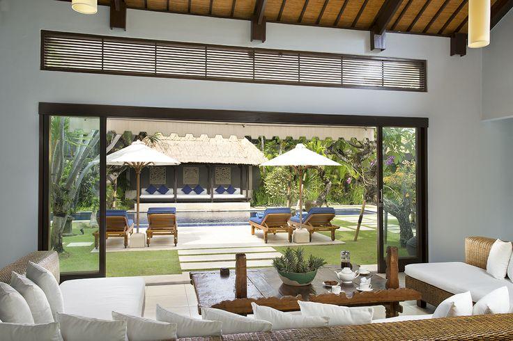 http://prestigebalivillas.com/bali_villas/villa_jemma/2/more_info/  View to Bale garden and pool from the longe area of stunning Villa Jemma Bali