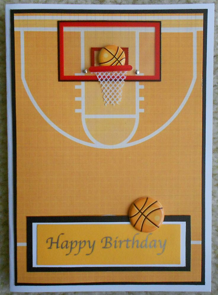 94 best sports cards images on pinterest kids cards birthdays and handmade basketball card m4hsunfo