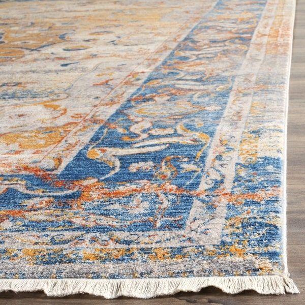 Safavieh Vintage Persian Blue/ Multi Distressed Polyester Rug (5' x 7' 6)