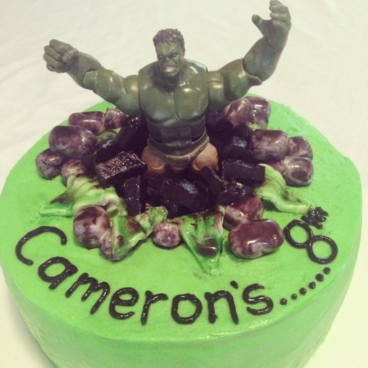 Hulk 8th Birthday Cake