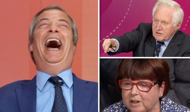 Nigel Farage SHUTS DOWN second referendum calls as Dimbleby FAILS to control Remainer