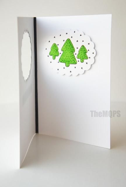 Choinki - kartka bożonarodzeniowa, cena: 10 zł    Zapraszam do oglądania, komentowania i ... zamawiania: themqps.blogspot.com