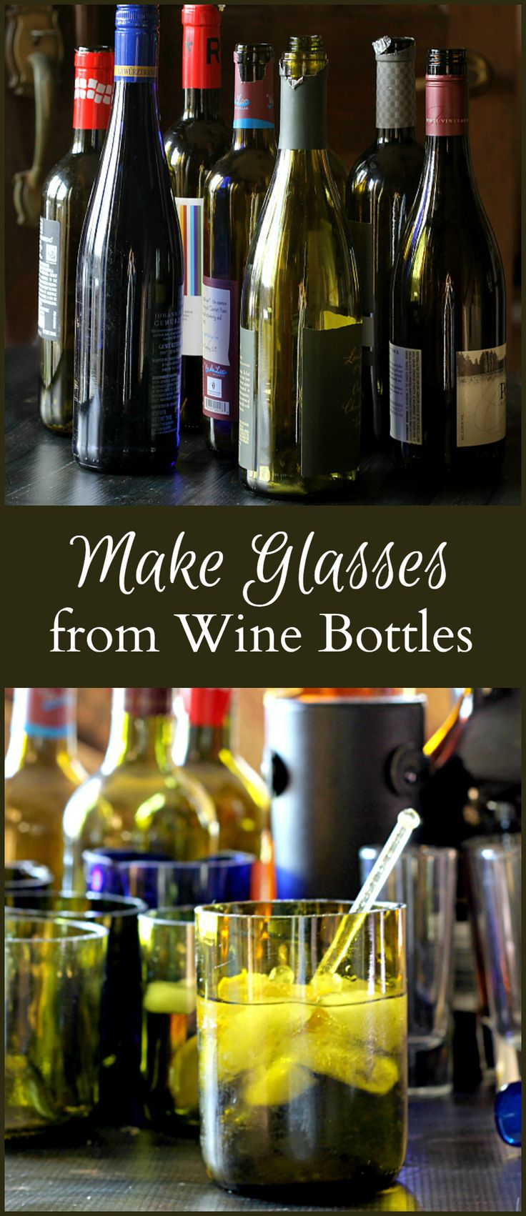 make drinking glasses from recycled wine bottles drinking glass and bottle. Black Bedroom Furniture Sets. Home Design Ideas