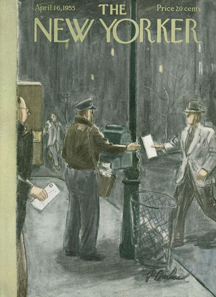 The New Yorker - Saturday, April 16, 1955 - Issue # 1574 - Vol. 31 - N° 9 - Cover by : Perry Barlow