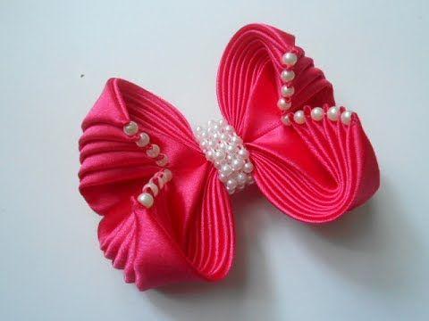 Кпвсивый бант из ленты своими руками МК/ DIY Beautiful ribbon bow