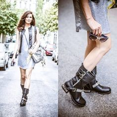 Nos encanta este look de aire roquero de @marsaura con nuestras botas www.marypaz.com