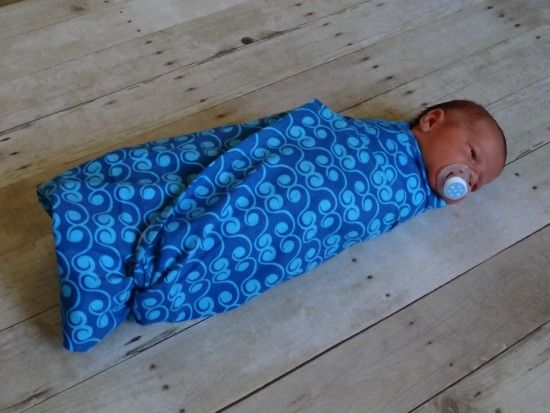 how to make a single layer flannel receiving blanket