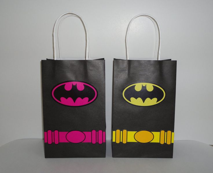 Instant Download Batman & Batgirl Favor Bag DIY -Batman Goody Bags/ Party Bags/ Goodie Bags, Batman Birthday Favors, Batman Candy/Treat bags by CreativePartyStudio on Etsy