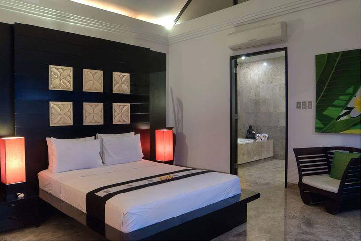 Bali Villa Photography - Residence Seminyak - master bedroom suite dusk lighting