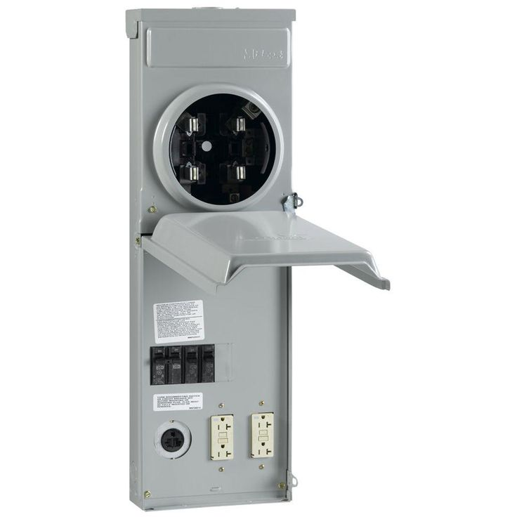 Ge 100 Amp Metered Temporary Power Outlet Box R038c010 The Home Depot Power Outlet Electricity Home Security Tips