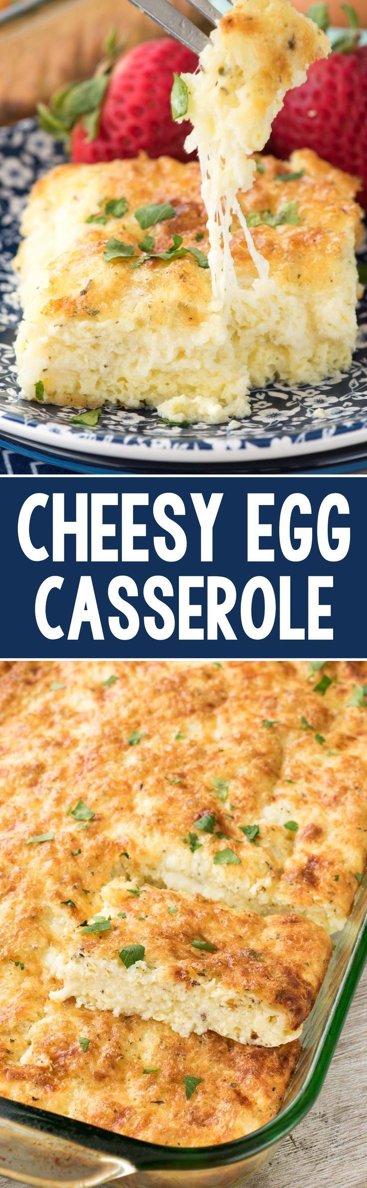 Buttery Cheesy Egg Casserole - this recipe is the perfect baked egg recipe for brunch! It's full of cheese and spices and everyone loves it.