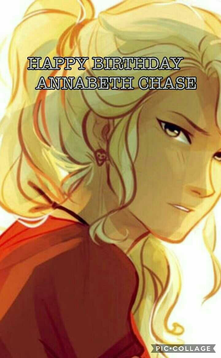 HAPPY BIRTHDAY Annabeth Chase JULY 12