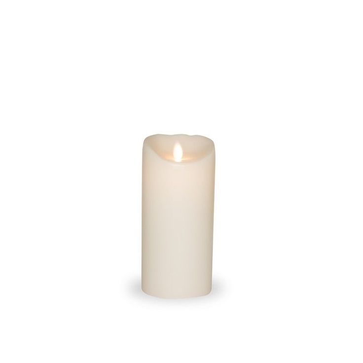 Bougie Flamme Led blanche 18 cm