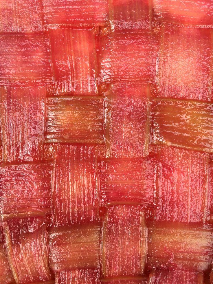 Tarte à la rhubarbe sur lit de frangipane. Un bon délire