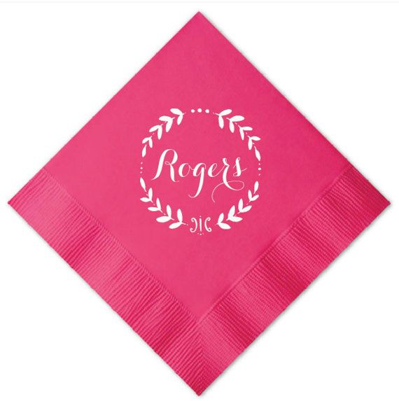 Personalized Wedding Napkins with Border  Set of by GraciousBridal. perfect for parties, weddings, rehearsal dinners and to use in your home!