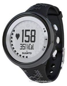 Suunto M5 Black / Silver Heart Rate Monitor - 9 Language Display - Without Belt, (watches, heart rate monitor, cycling, suunto, digital watch, barometer, sport watch, altimeter, running products, heart rate monitor watch)