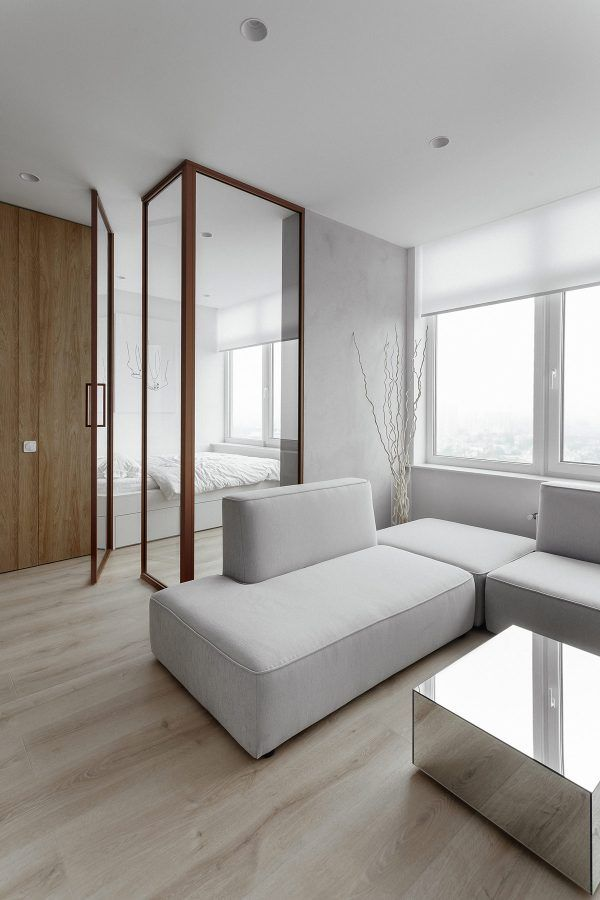 Three Modern Apartment Interiors Under 40 Square Meters With
