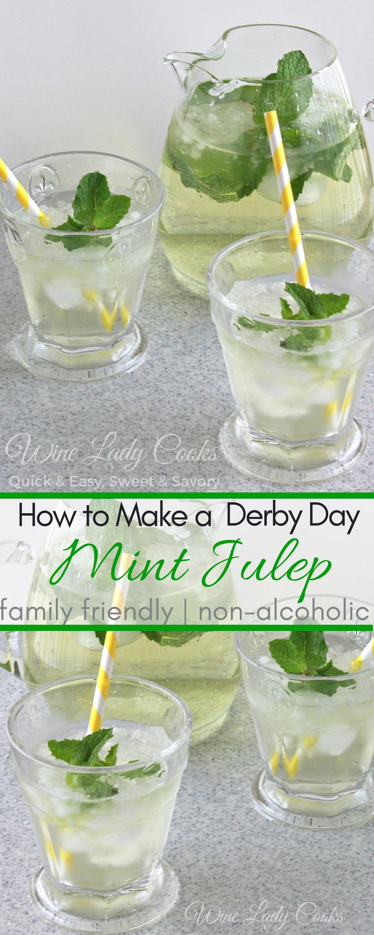 How to Make Mint Julep Family Friendly recipe is a refreshing summer drink everyone will enjoy. Click thru for details.  #mint #julep #KentuckyDerby #nonalcoholic #summer #drinks #familyfriendly