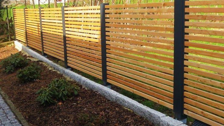 Sichtschutz Zaun Holz · Anthrazit · Metall · Lärche