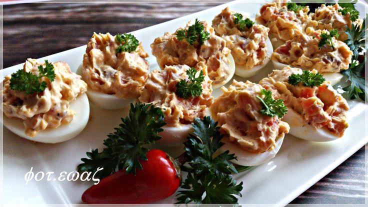 Ewa w kuchni: Jajka faszerowane wędzonym łososiem