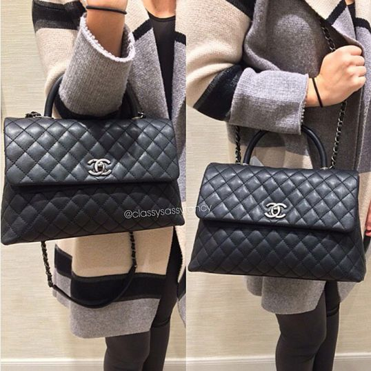 Chanel Black Coco Handle Medium Bag