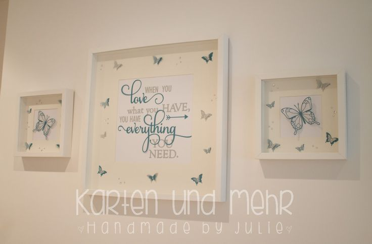 Stampin' Up! Butterfly, SU Petrol