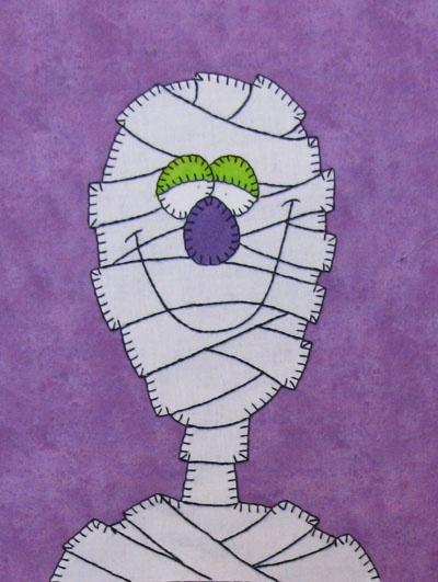 Aplicación personaje Halloween (momia) by Amy Bradley