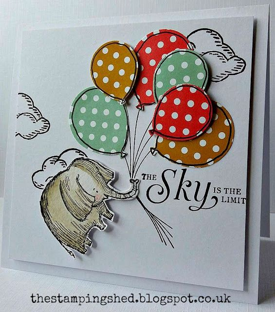 The Stamping Shed.  (SU-Love You Lots [hostess]; Sky's the Limit (2016 SAB); Balloon Celebrations).  (Pin#1: Balloons... Pin+: Animals...).
