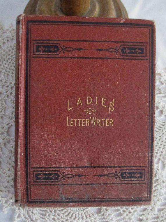 Antique book Ladies Letter Writer 1870s by vintageboxofdelights, $140.00