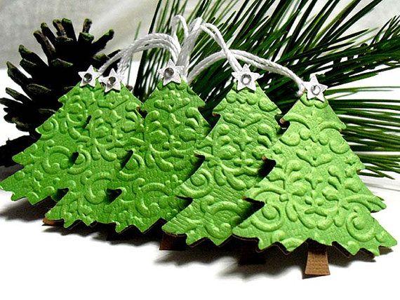 Embossed Christmas Tree Tag