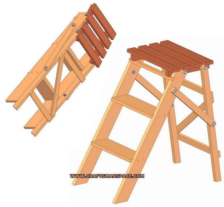 Folding step ladder plan  sc 1 st  Pinterest & 101 best Ladder images on Pinterest | Woodwork Chairs and Step stools islam-shia.org