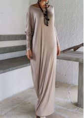 Skew Neck Long Sleeve Black Dress   modlily.com