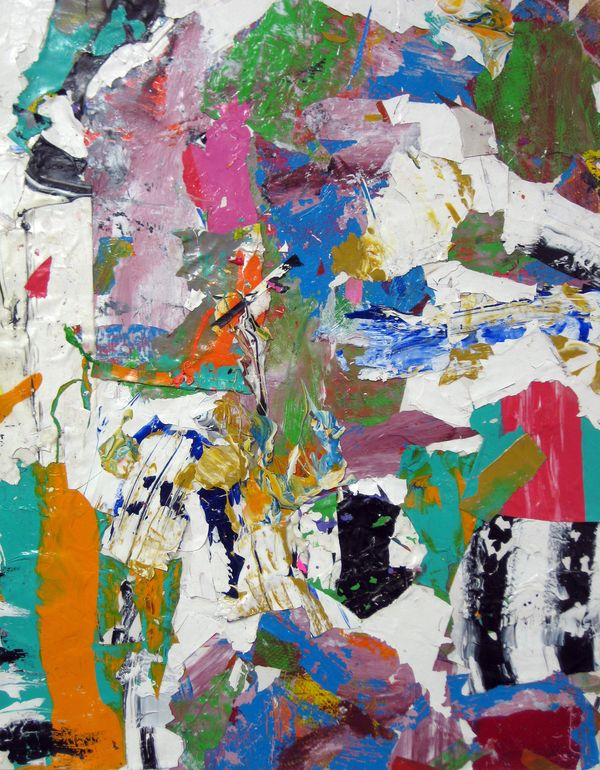 """Saatchi Online Artist: robert tavani; Painting, 2013, Assemblage / Collage """"Spill Over with Love"""""""