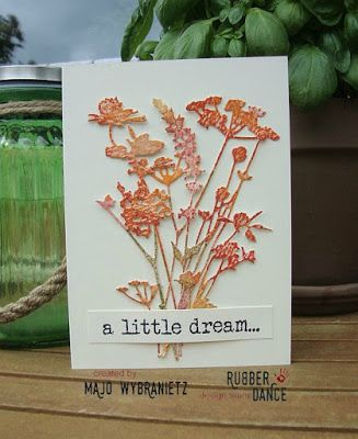 *Majos Art* - Tim Holtz Wildflowers, Rubber Dance Stamps