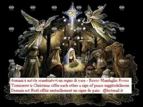 Domani è Natale scambiatevi un segno di Pace 24 DICEMBRE ROCCO MANDAGLIO...