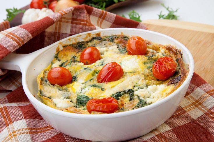 Frittata aux légumes et au fromage de chèvre