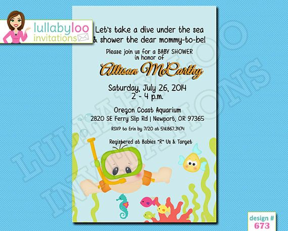 under the sea baby shower invitations 672 by lullabyloo on etsy under the