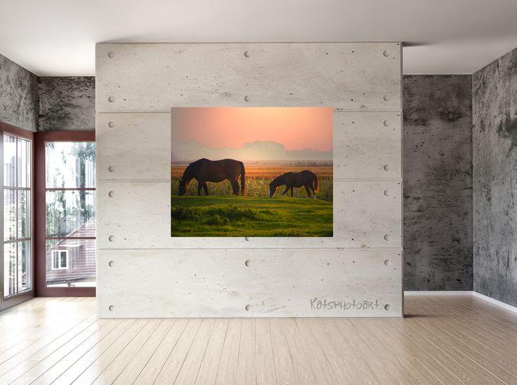 "Kats Original ""Days End"" Certified Fine Art PhotoRag print"". 80x 100 cm Diasec 2 mm mat acrylaat / 4 mm Alu-Dibond."