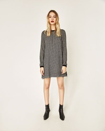 CHECKED JUMPSUIT DRESS-DRESSES-WOMAN | ZARA United States